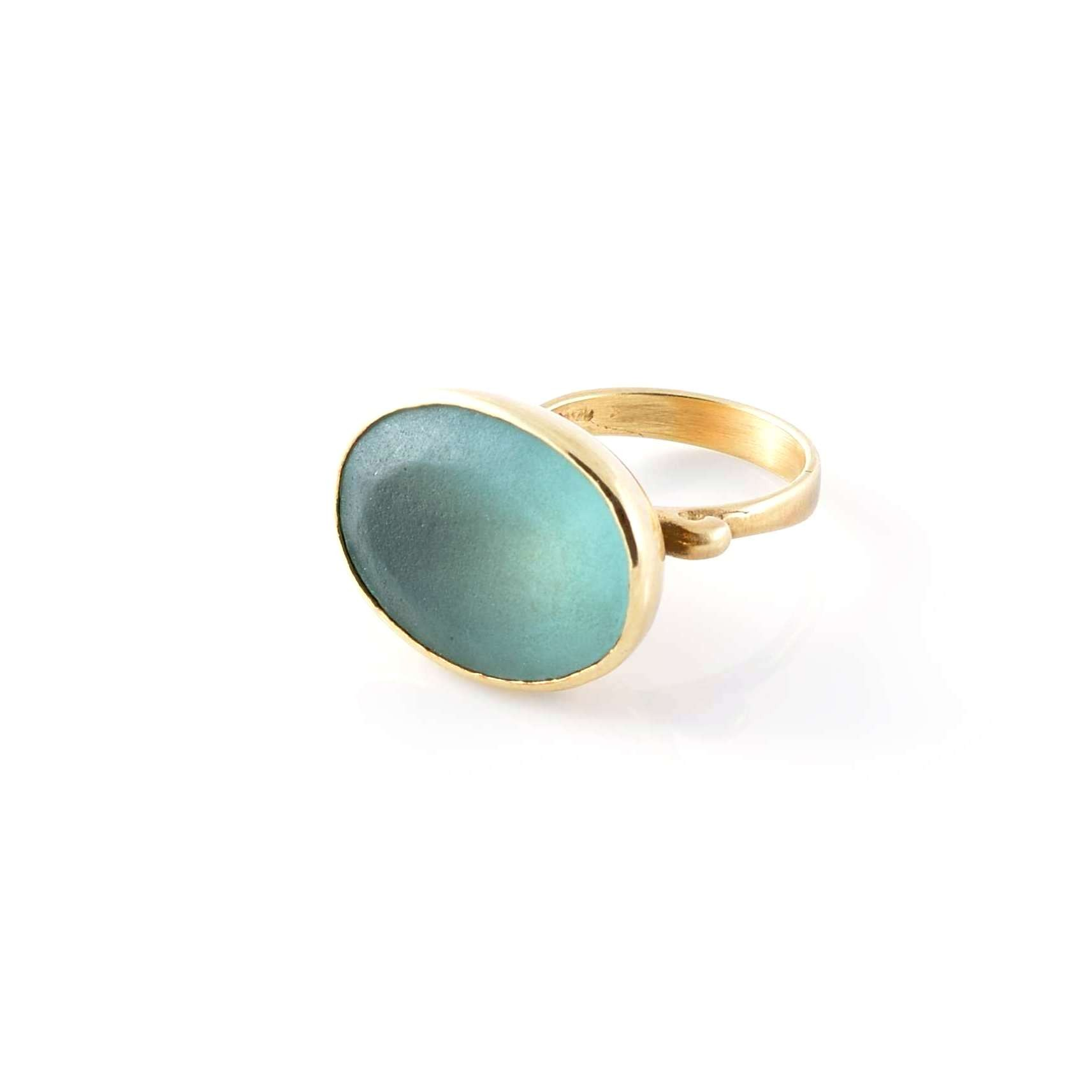 Aquamarine Gold Ring Large