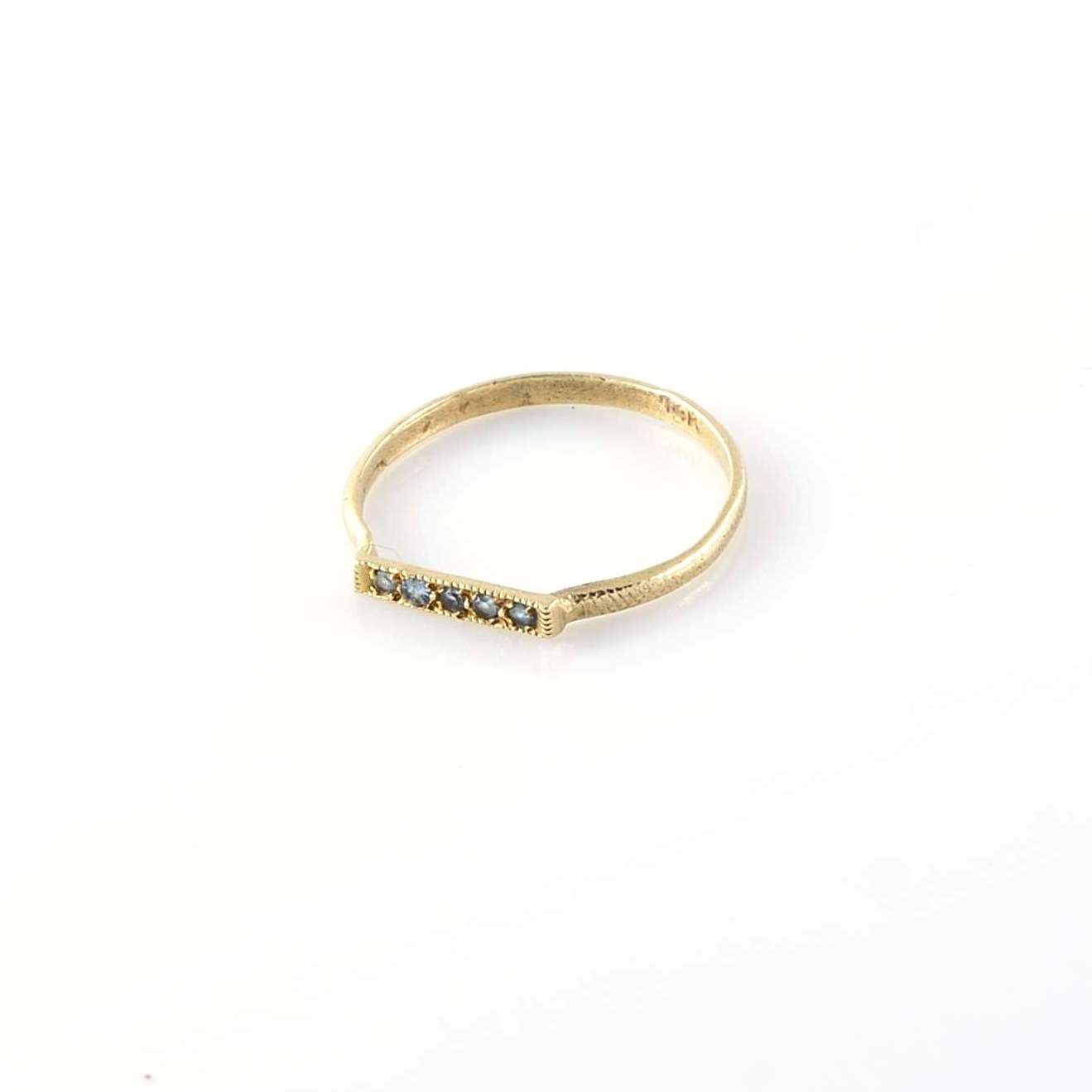 Zircons Gold Ring