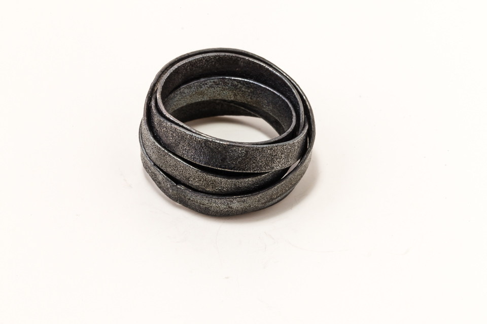 Wrapped Blackened silver ring